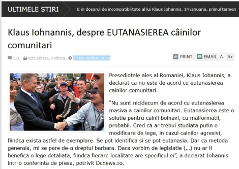 iohannis gegen euthanasie screenshot