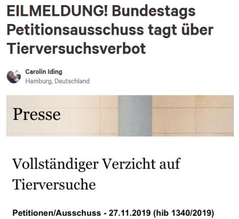 Screenshot_2019-11-27 EILMELDUNG Bundestags Petitionsausschuss tagt über Tierversuchsverbot.png
